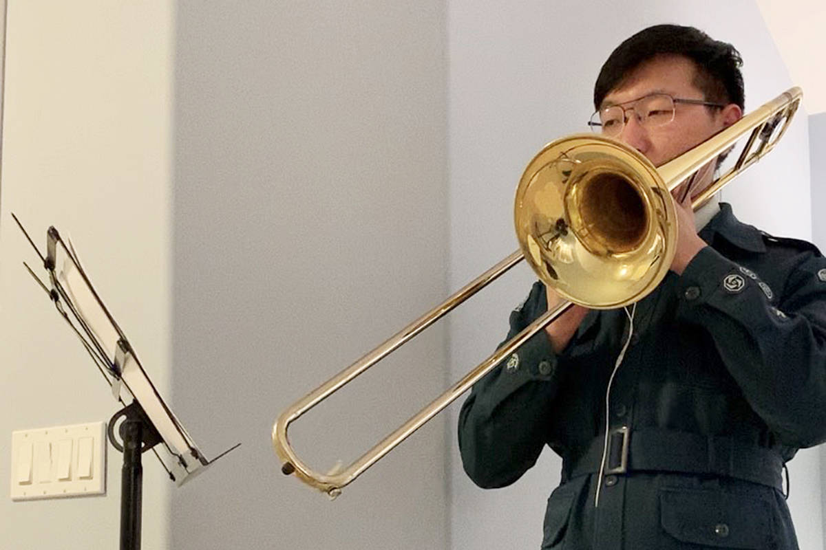 Ricky Ge, a Langley Air Cadet, is playing in an international cadets orchestra. (Ricky Ge/Special to the Langley Advance Times)