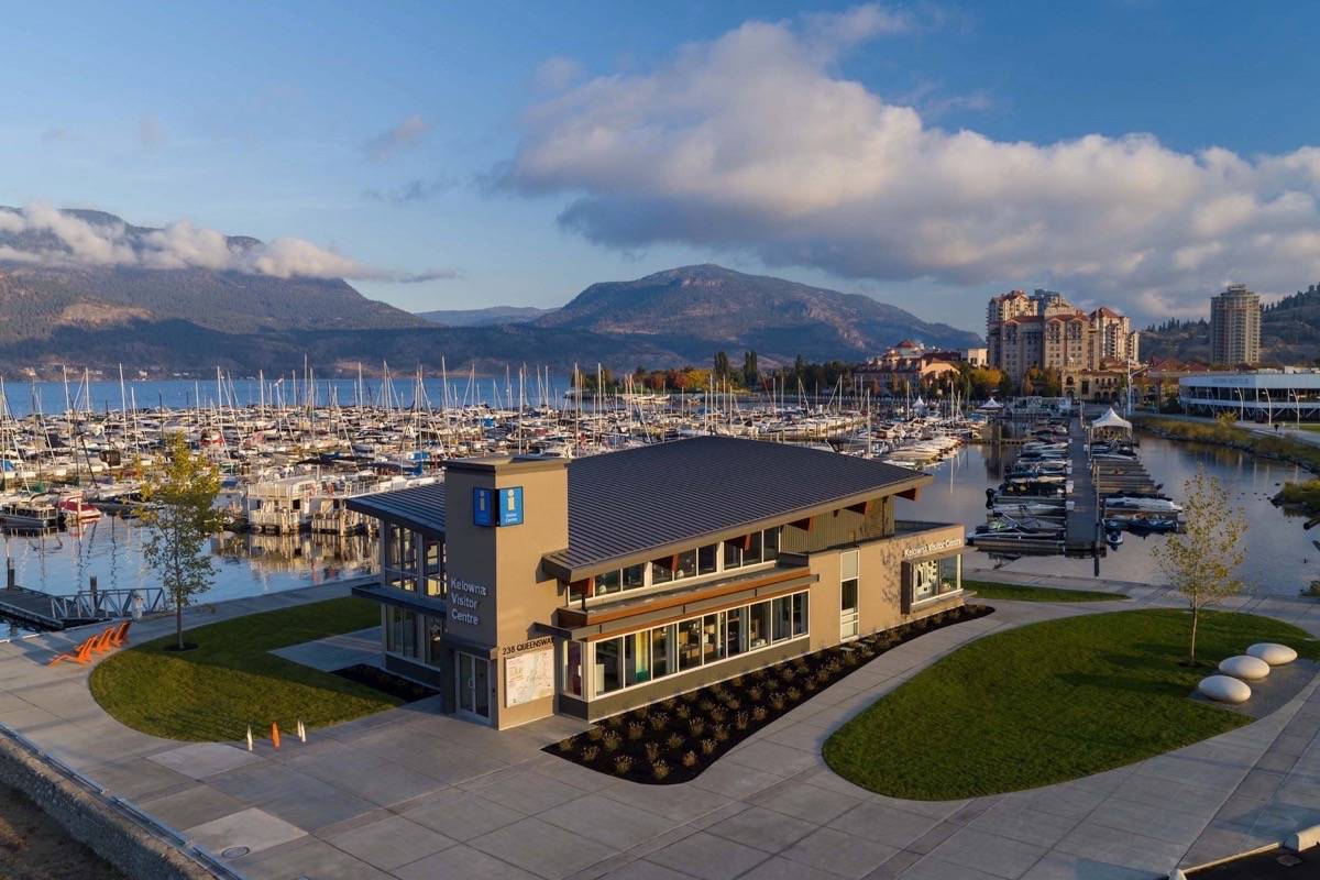 Kelowna's lakefront visitor centre is one of 130 around the province. Tourism businesses have been hardest hit by COVID-19 restrictions on travel. (Destination B.C.)