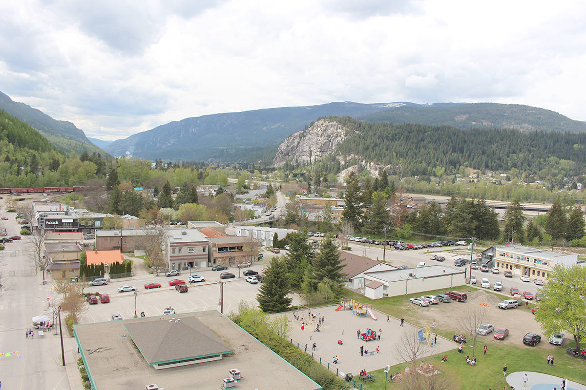 The incident happened in downtown Castlegar. Photo: Betsy Kline