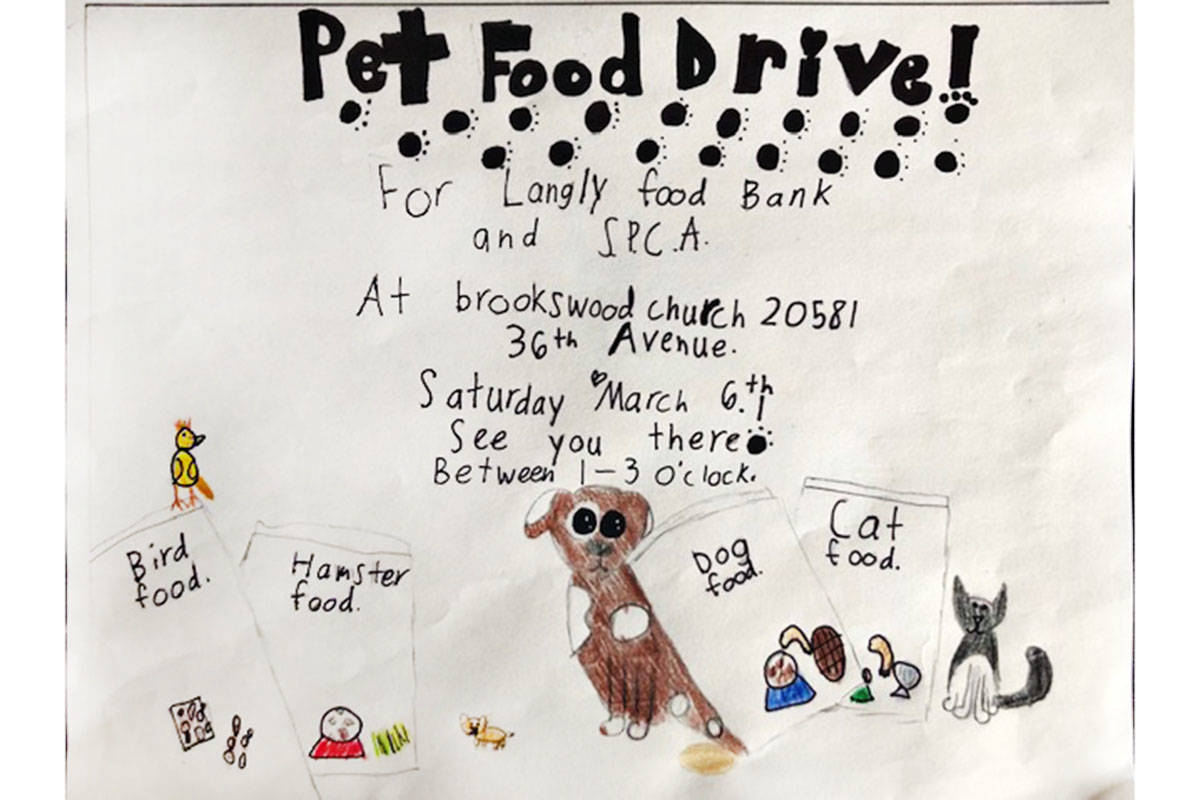 A local child wants to hold a pet food drive for her 10th birthday. (Jepsen family/Special to the Langley Advance Times)