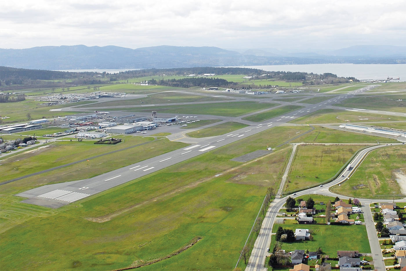 A recently finished $4.3-million taxiway extension at the Victoria International Airport (not pictured) is unusable because of a blind spot. (Black Press Media file photo)