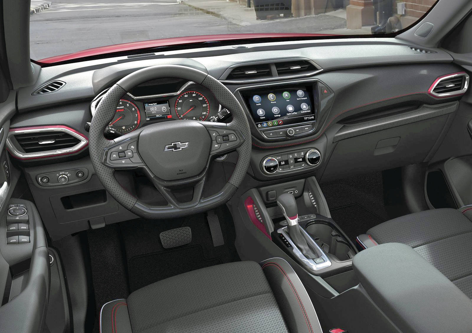 The sharp-looking interior is also pretty roomy. It's about the same size inside as the new Buick Encore GX. PHOTO: CHEVROLET