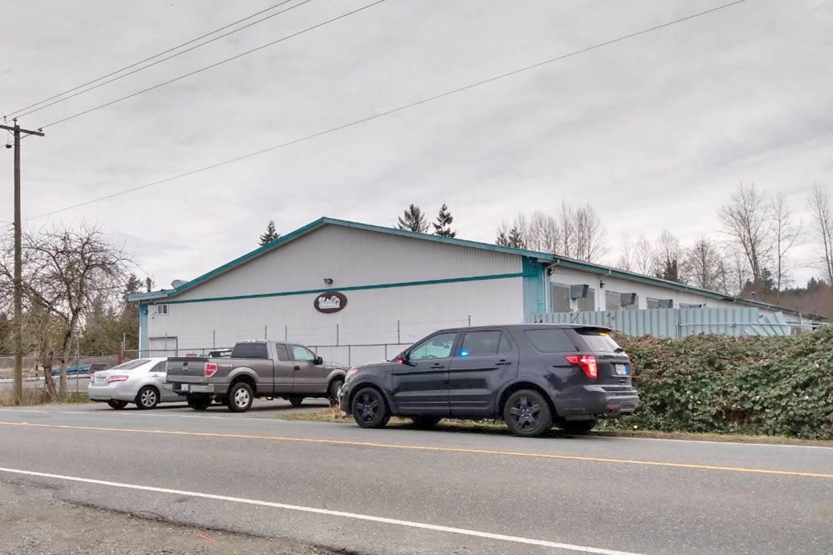 Langley RCMP were on scene at an incident on 232nd Street in South Langley early Thursday, March 4, 2021. (Ryan Uytdewilligen/Black Press Media)