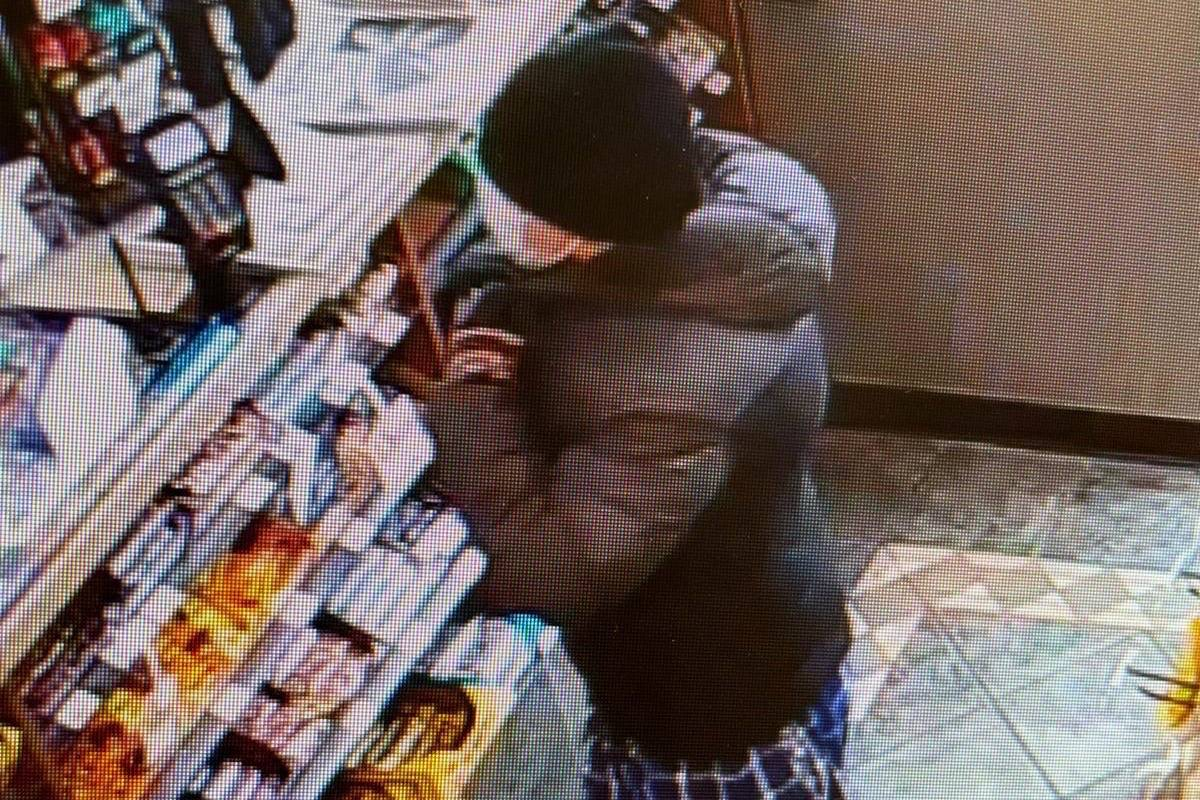 Cloverdale robbery suspect. (Surrey RCMP photo)