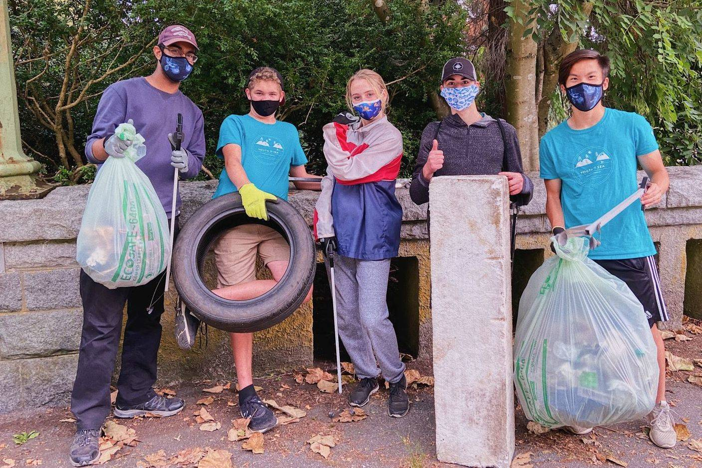 Lower Mainland teens with Ocean Wise's YouthToSea program have launched an initiative called Clean Coastal, Eat Local, through which they're offering restaurant gift cards to individuals or households that organize a coastal cleanup in the month of March. (Photo supplied by Ocean Wise)