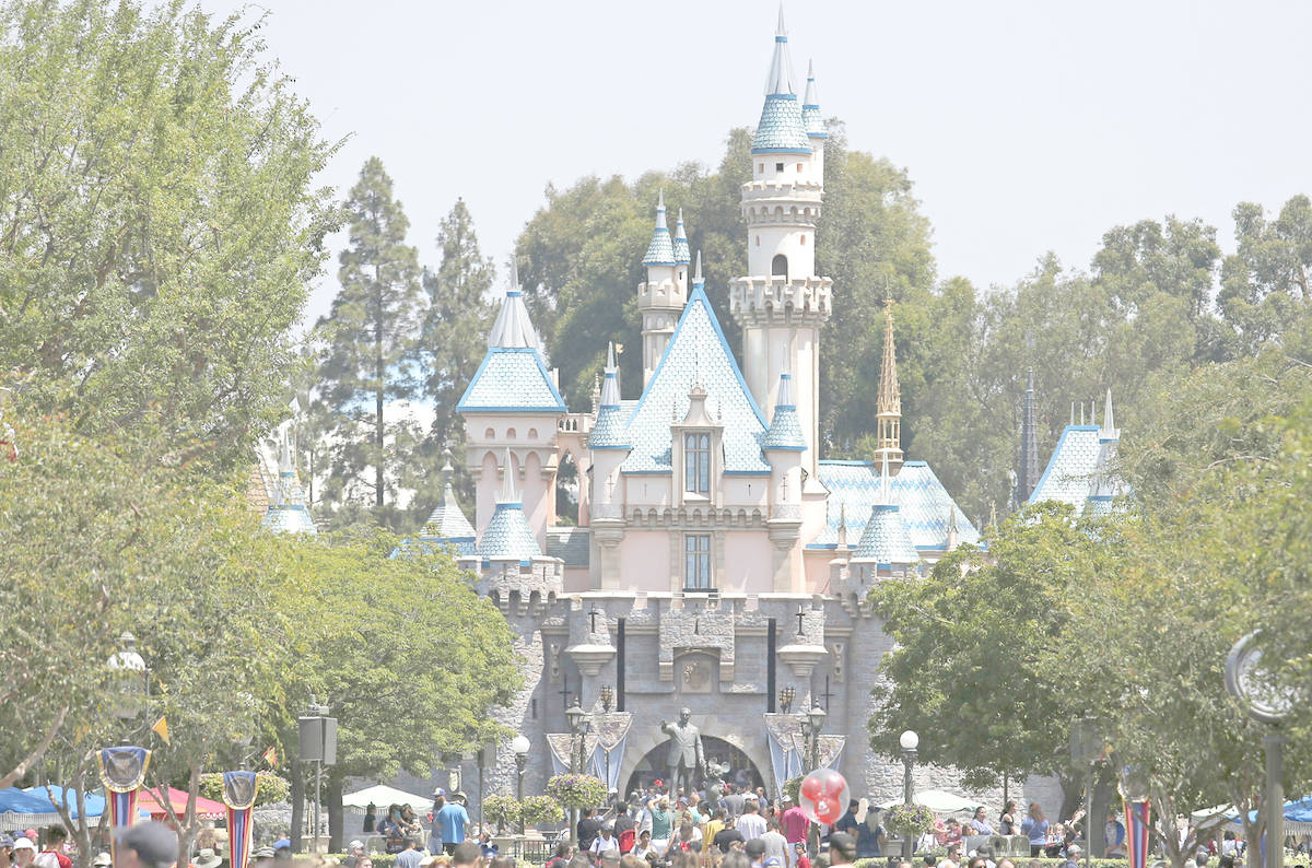 Sleeping Beauty Castle looking down Main Street at Disneyland in Anaheim, Calif., on June 30, 2017. (Gary Coronado/Los Angeles Times/TNS)