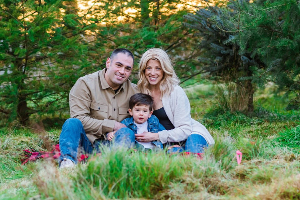 Bree Jordan, seen here with her husband Steve and son Levi, is hoping to have cancer treatments in the U.S. The Range in Langley has joined the campaign and will donate all drop-in fees on March 18th. (GoFundMe)