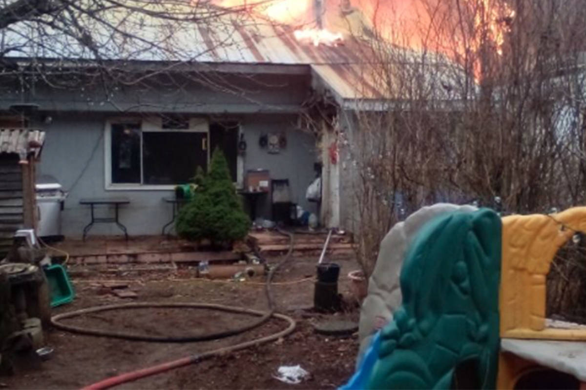 The Kimber family of Boston Bar lost their home in a fire. Blaine Kimber's daughter created a fundraiser to help rebuild the home with the goal of $100,000. (Screenshot/GoFundMe)