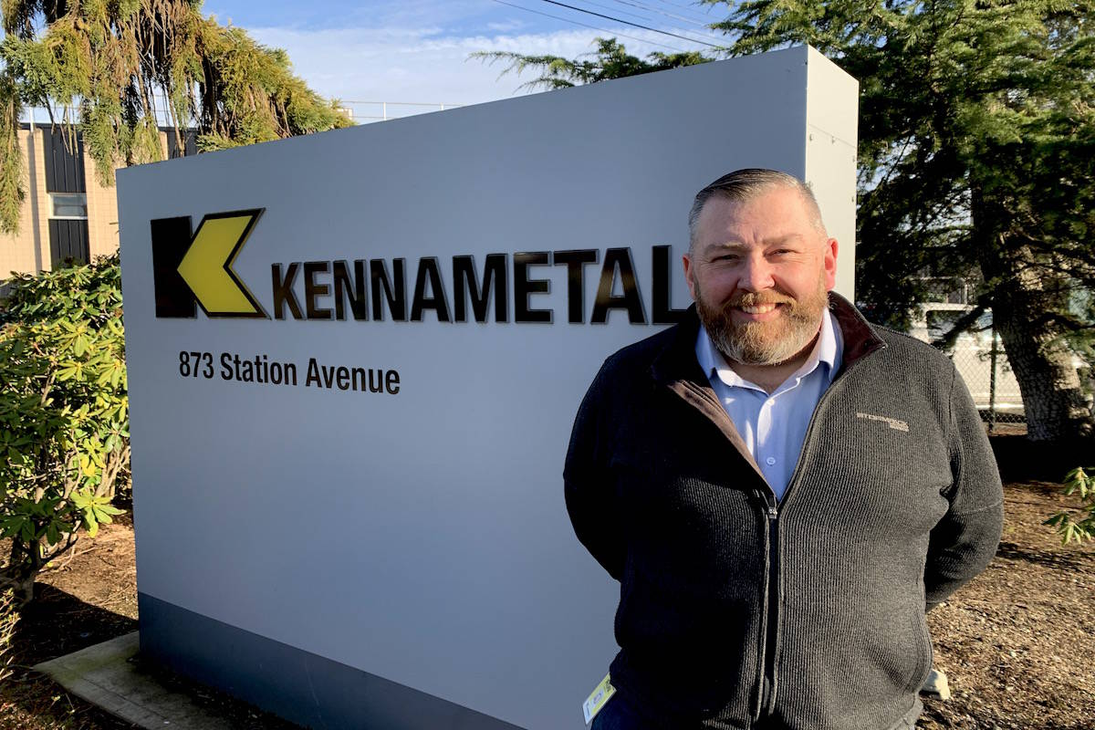 Ron Sivorot, business director at Kennametal's Langford site, the Greater Victoria facility that made a component being used on NASA's Perseverance rover on Mars. (Jake Romphf, Black Press Media)