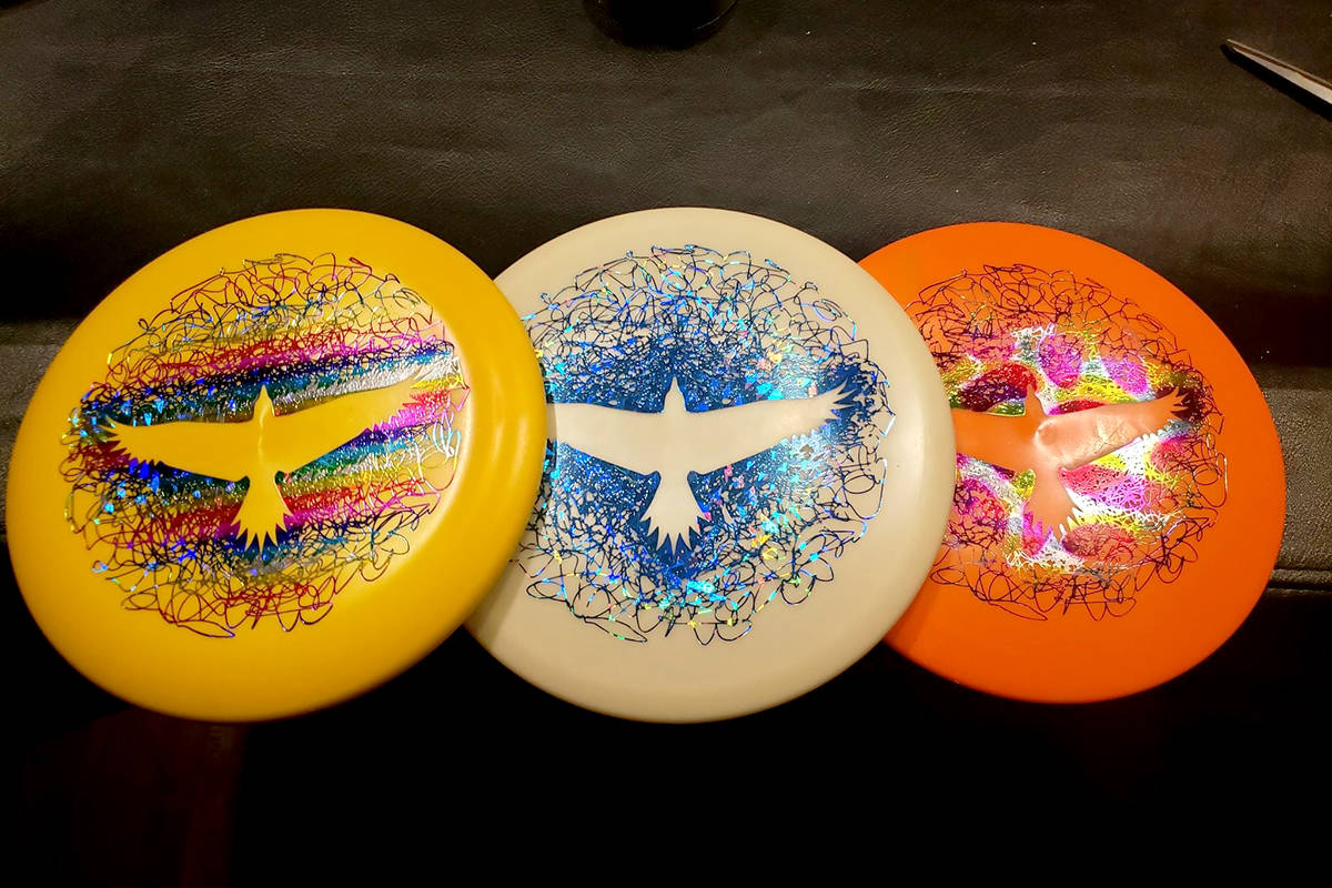 Limited edition light weight starter disc frisbee golf sets from Raptor's Knoll are for sale. (Special to The Star)
