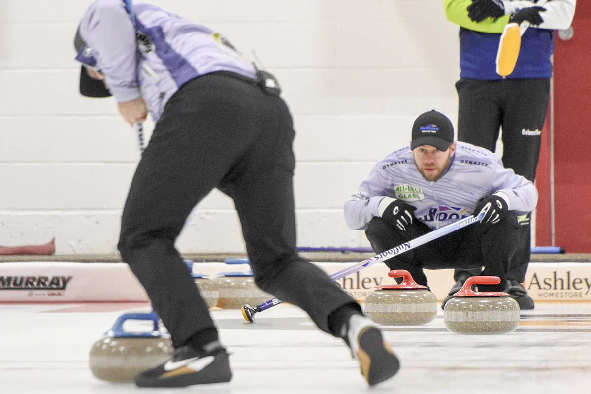 Vernon's Jim Cotter and Team B.C. defeated the Yukon 9-2 for their first win Monday, March 8, at the 2021 Tim Hortons Brier Canadian men's curling championship in Calgary. (Black Press - file photo)