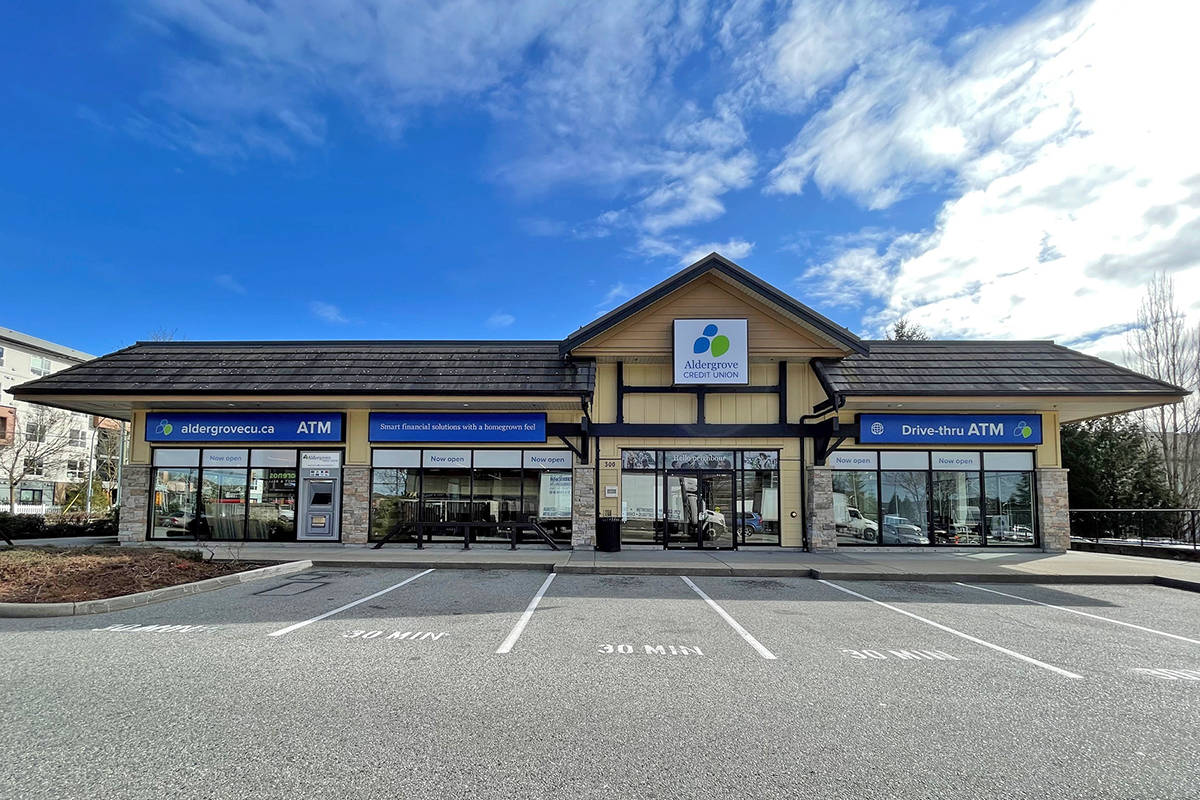 The new Aldergrove Credit Union Willoughby Community Branch opened Tuesday, March 9 and is now ready to serve you Tuesday to Friday from 9:30am to 5pm. and Saturday from 9:30am to 3pm.