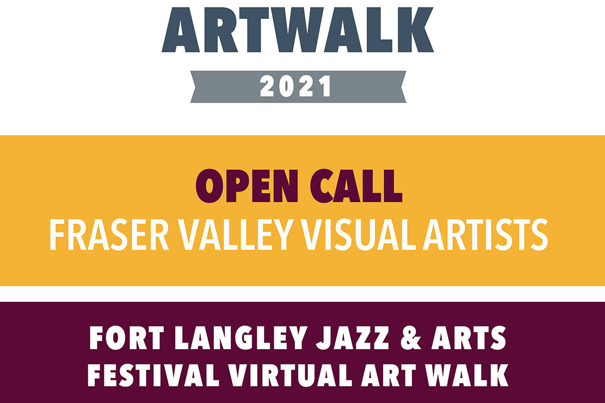 Fort Langley Jazz and Arts Festival puts out open call for artwalk. (Special to The Star)