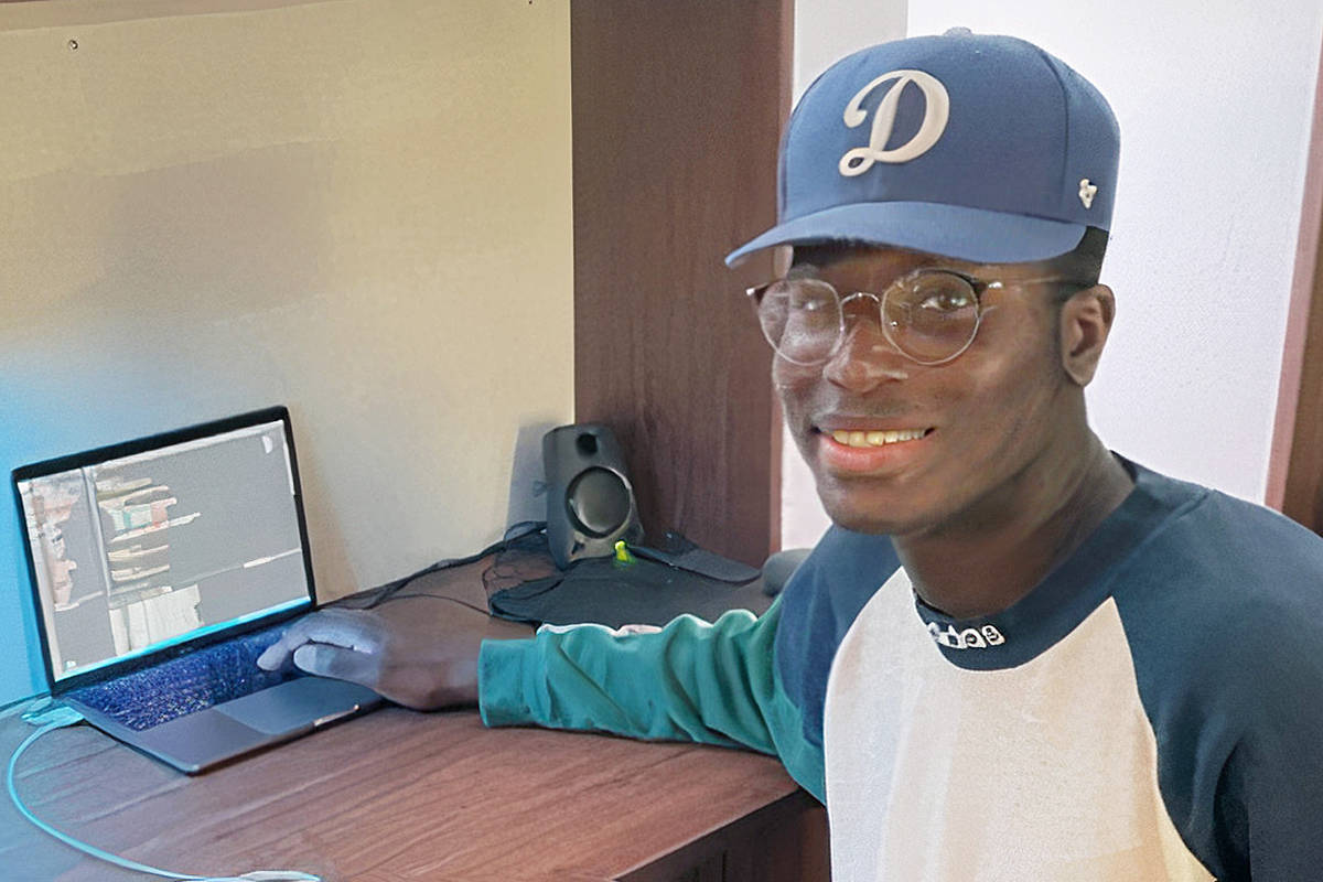 Okewoma Okumo, a first-year computing science student at Trinity Western University in Langley, has created an app that allows users to calculate their personal carbon emissions and take steps to reduce them. (Okewoma Okumo/TWU)
