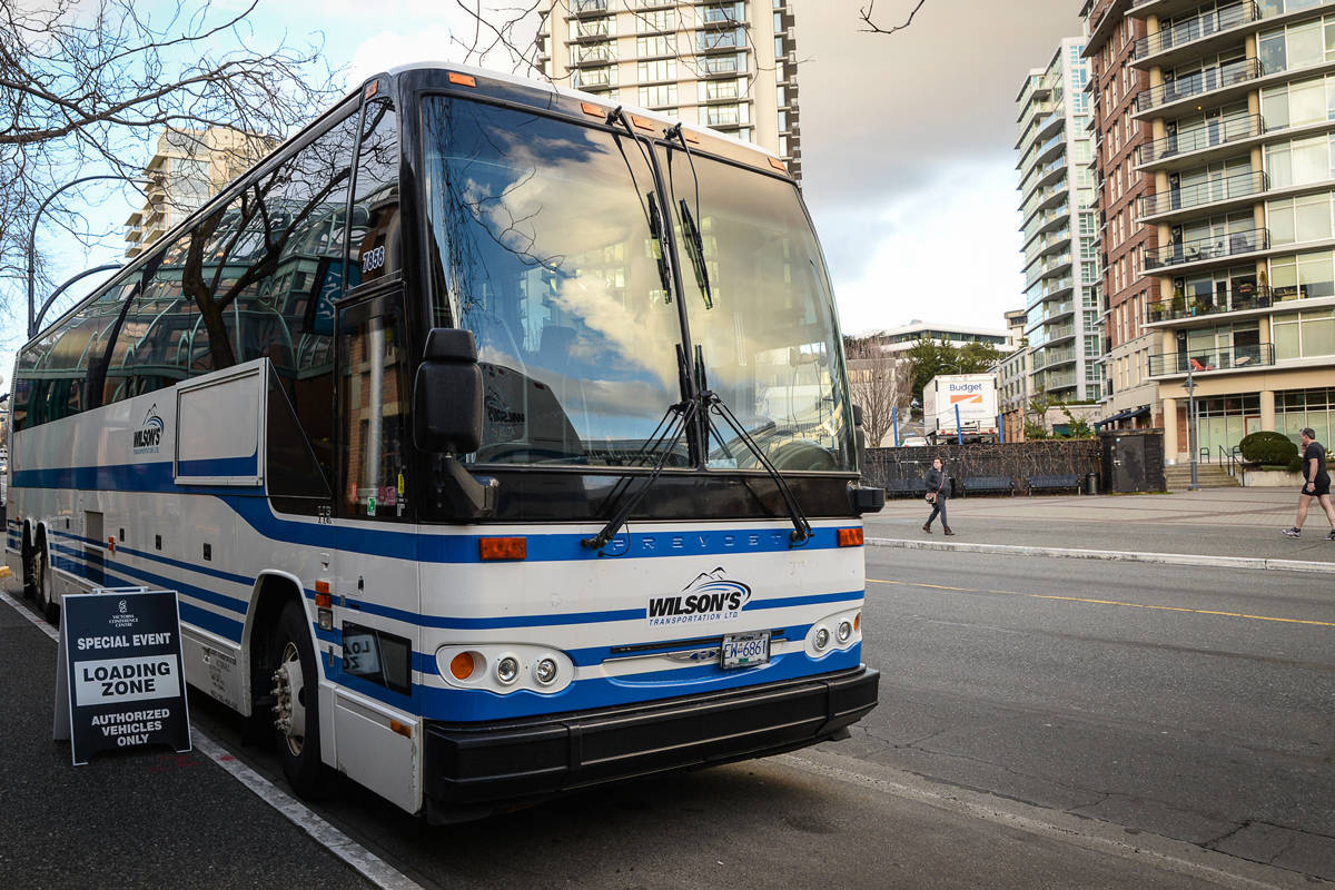 Vancouver Island-based Wilson's Transportation has expanded to fill some of the routes left unserviced by Greyhound in 2018, but it and other inter-city bus companies have been severely affected by COVID-19 travel restrictions. (Black Press files)
