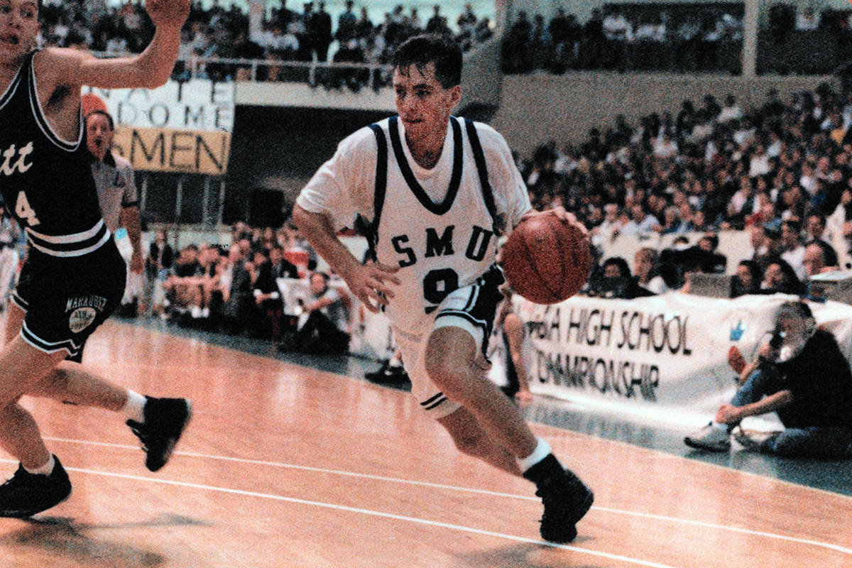 A young Steve Nash in his high school days. (photo courtesy of BC Boys Basketball Association)
