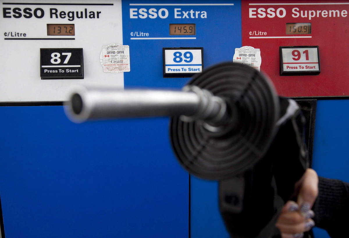 The 2020 dip in Canadian fuel prices was short-lived, with prices in Metro Vancouver now climbing to around 150 cents per litre. THE CANADIAN PRESS/Jonathan Hayward