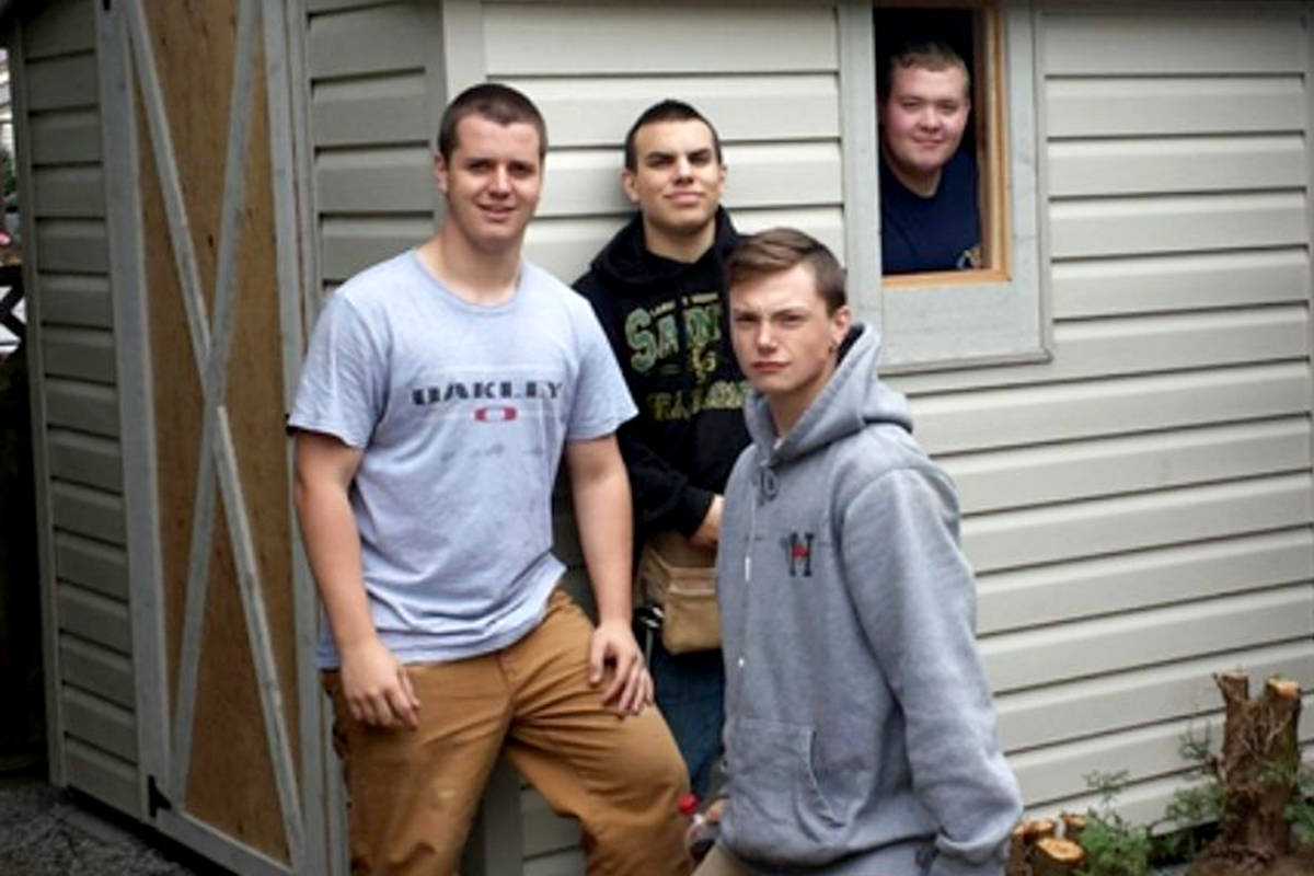 Students at Aldergrove Community Secondary School are offering to build buyers a homemade shed. (Special to The Star)