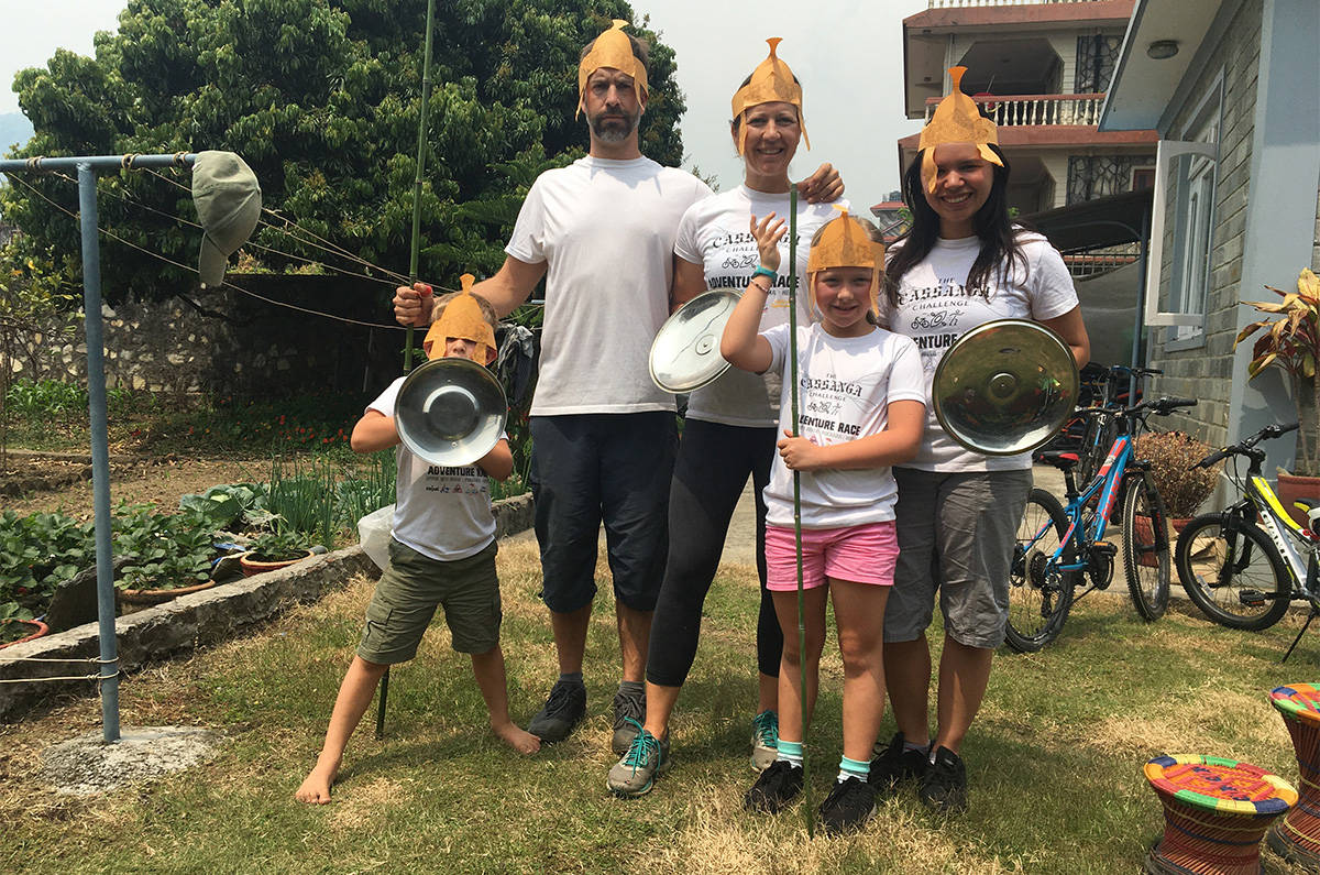 B.C's Travis Wilkins and his family live in Nepal. (Submitted)
