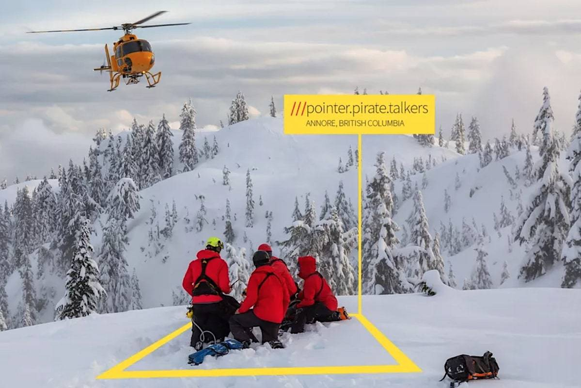 Mounties are now using What3Words digital location to help people pinpoint their whereabouts when lost or injured. The app tells you a three-word label for every 10-foot square on the planet. (What3Words)