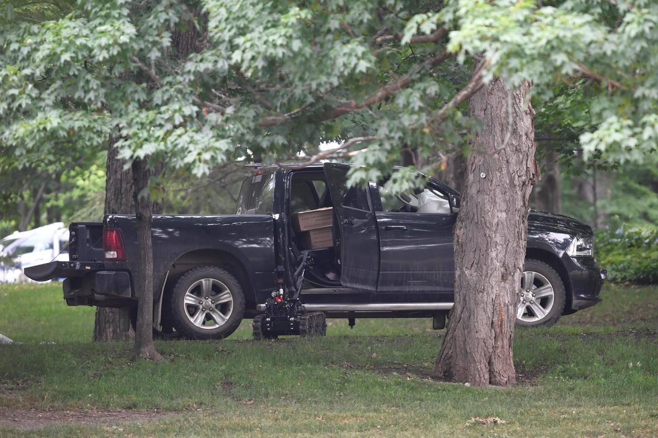 Corey Hurren, 46, rammed through a gate at Rideau Hall and headed on foot toward Prime Minister Justin Trudeau's home at Rideau Cottage while heavily harmed on July 2 last year. THE CANADIAN PRESS/Adrian Wyld