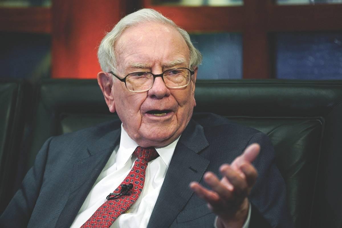Berkshire Hathaway Chairman and CEO Warren Buffett speaks during an interview in Omaha, Neb. (AP Photo/Nati Harnik, File)