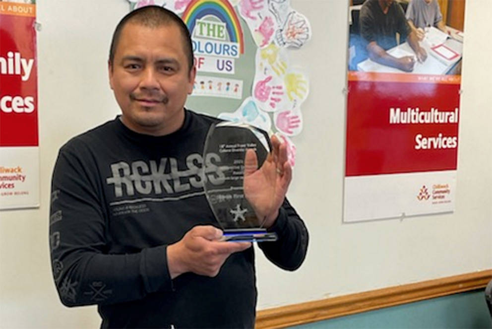 Skwah First Nation of Chilliwack, represented by Coun. John Williams, is a recipient of the Fraser Valley Cultural Diversity Awards in the category of Innovative Initiative – Medium to Large Organizations.