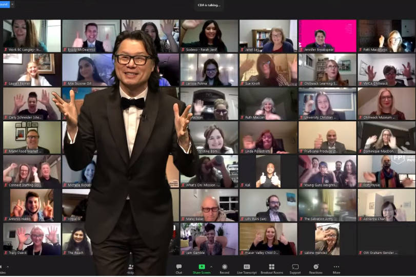 Fred Lee was master of ceremonies for the virtual Fraser Valley Cultural Diversity Awards on Wednesday evening (March 10). The event was live-streamed from Tradex in Abbotsford.