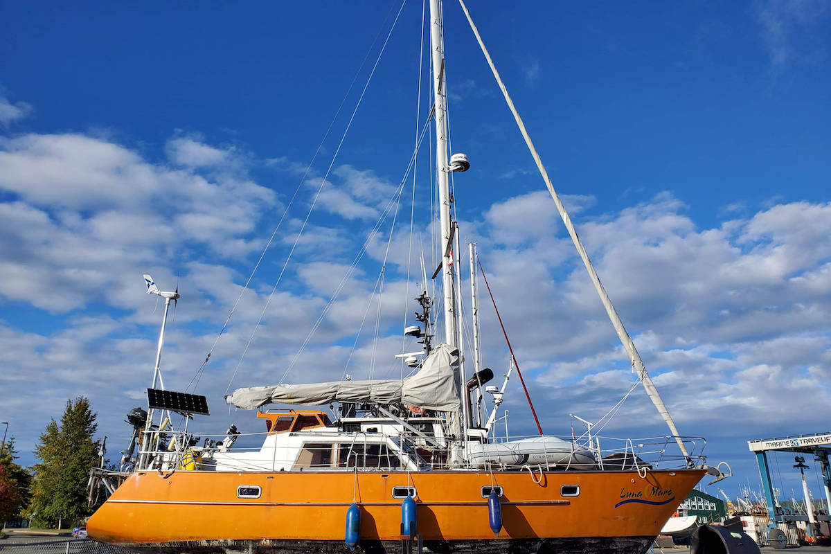 Paul and Marion Bauer's boat, Luna Mare, had to be repaired after the hull endured damage after colliding into a rock in the Strait of Georgia. Since November, the couple have been living on their boat anchored at Discovery Harbour in Campbell River.