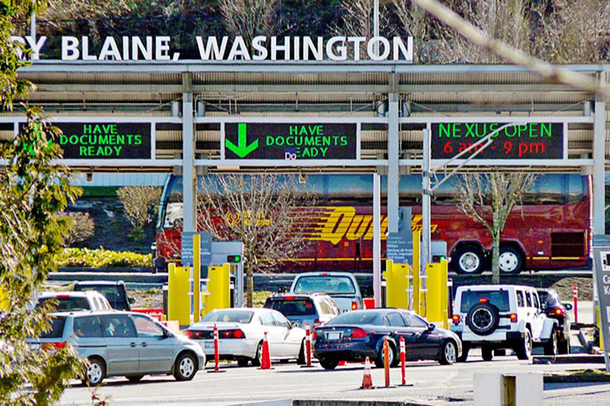 The Pacific Highway border crossing. (Black Press Media files)