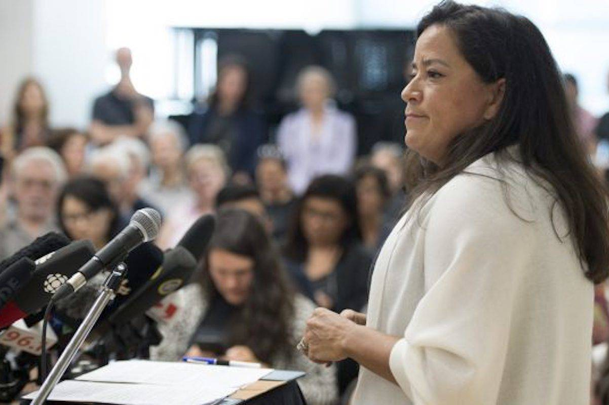 """Jody Wilson-Raybould is publishing a political memoir called """"Indian"""" in the Cabinet: Speaking Truth to Power. The book promises to shed new light on the most public moments of her time in government and go beyond the headlines. (THE CANADIAN PRESS/Jonathan Hayward)"""