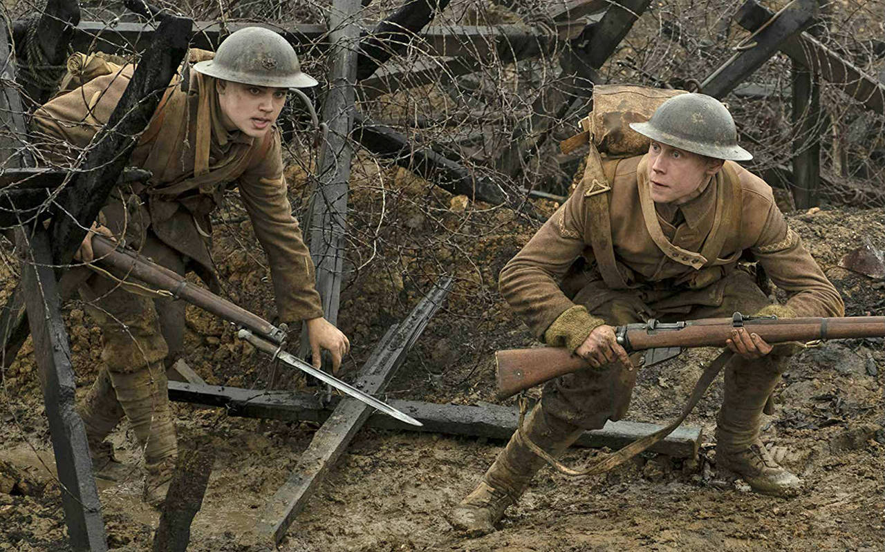 Dean-Charles Chapman and George MacKay star in 1917. When was the motion picture company DreamWorks Pictures formed? (Francois Duhamel | Universal Pictures and DreamWorks Pictures)