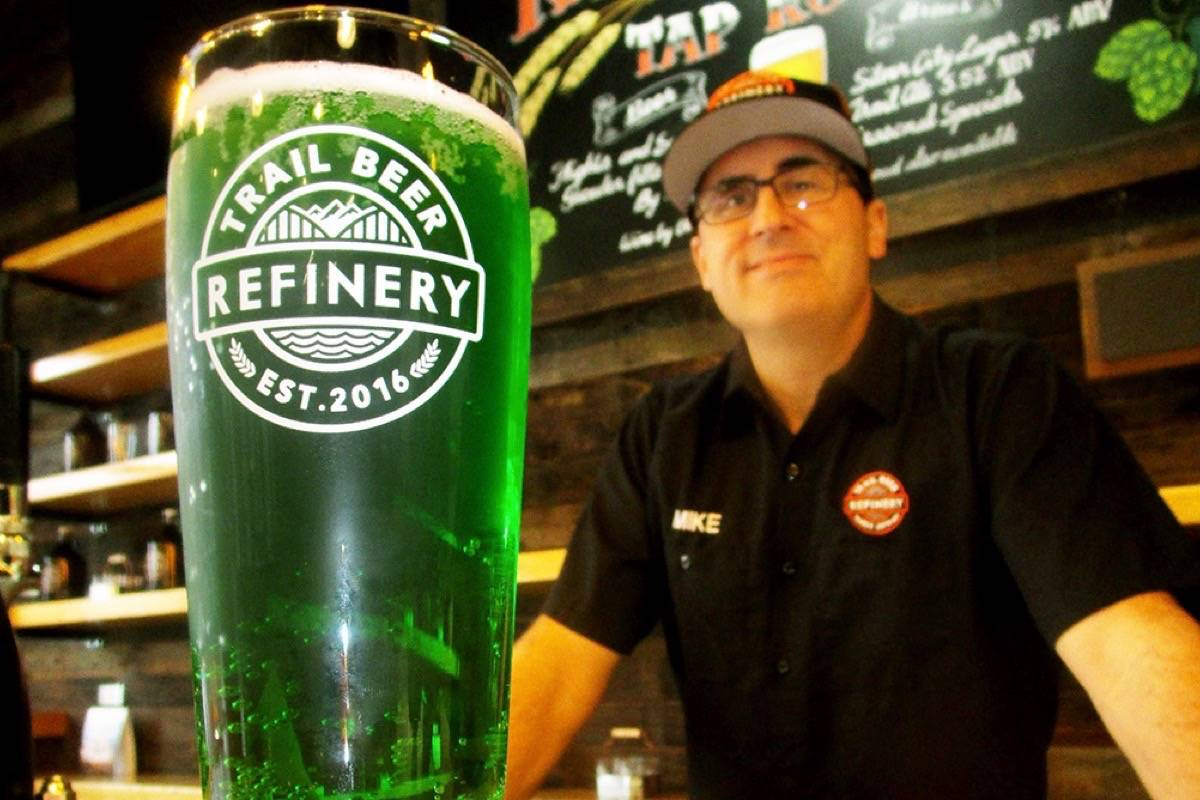 St. Patrick's Day is a special occasion for many pubs, such as this one in Trail B.C. (Trail Times)