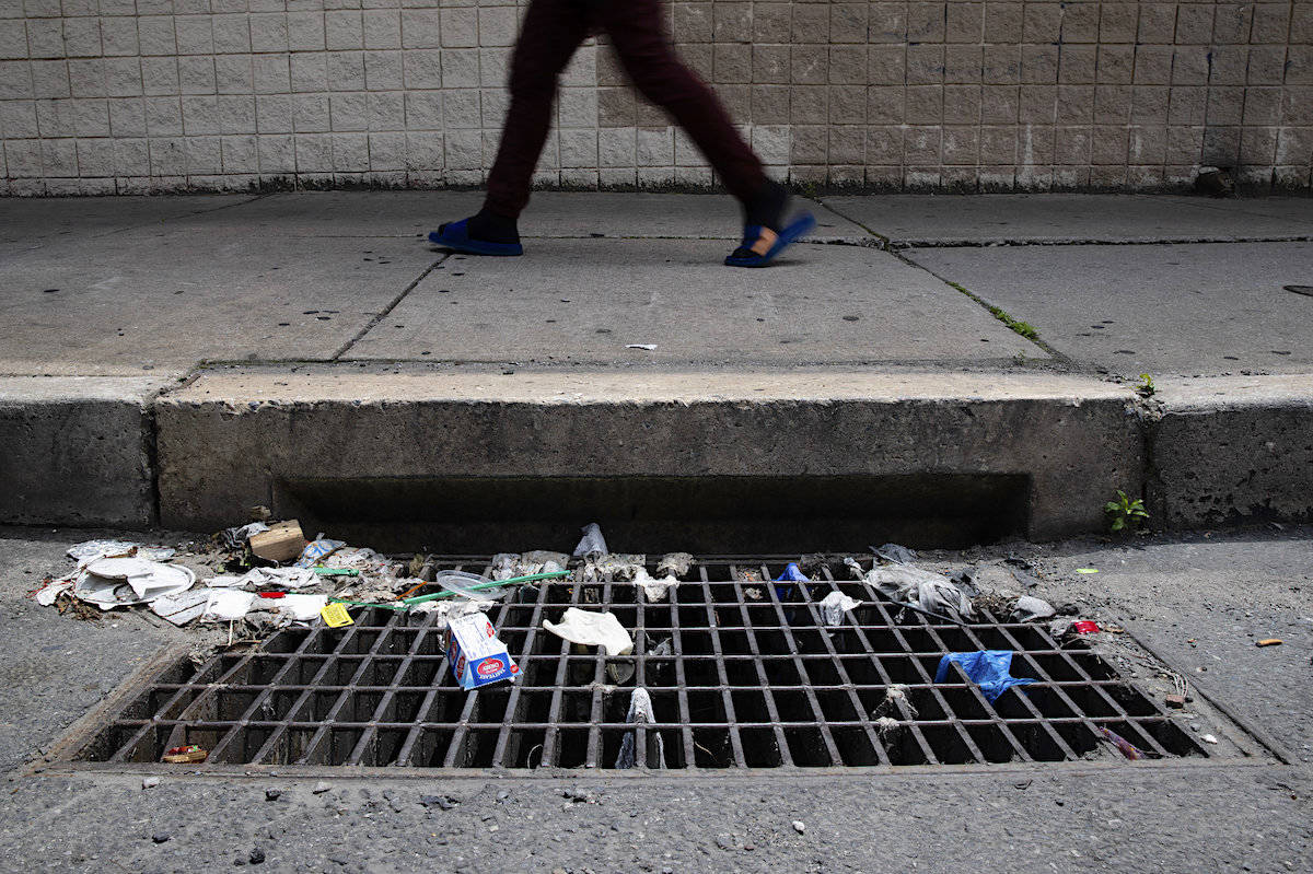 Data was gathered from six weeks of waste sampling at five regional transfer stations before B.C.'s indoor mask mandate came into effect in public spaces. (AP Photo/Ariana Cubillos)