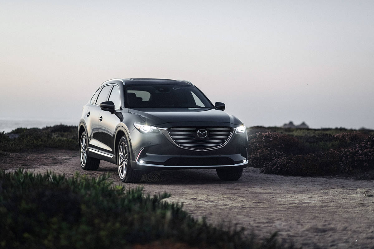 The heart of the CX-9 is turbocharged 2.5-litre four-cylinder rated at 250 horsepower and 320 pound-feet of torque.