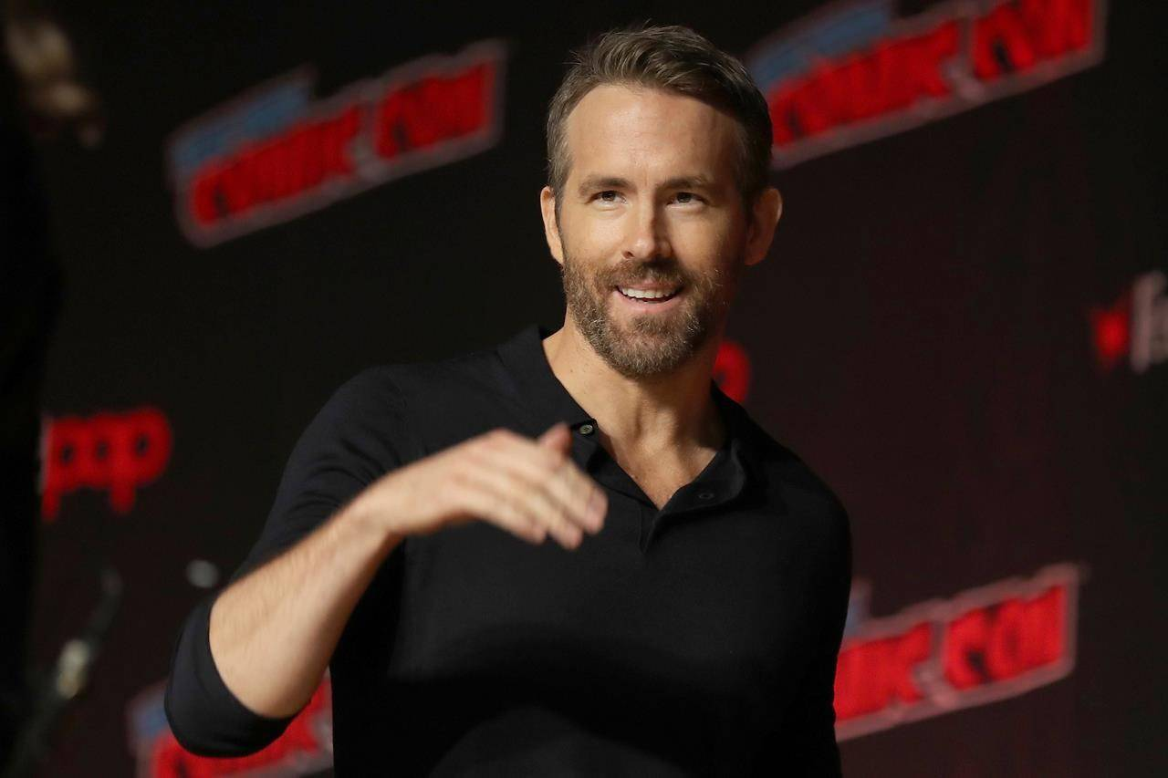 This Oct. 3, 2019 file photo shows Ryan Reynolds at New York Comic Con. THE CANADIAN PRESS/AP Photo/Steve Luciano