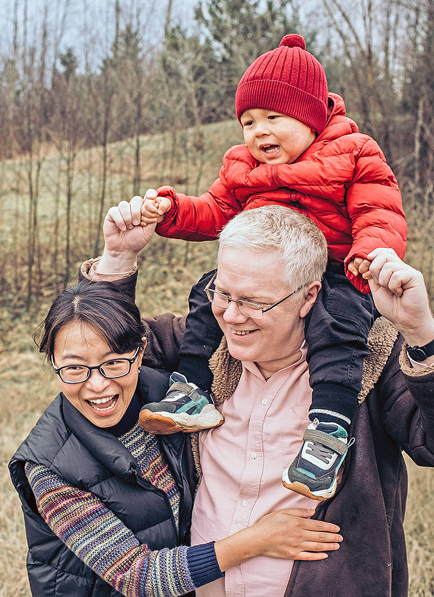Langley City resident John Lombard, seen here with wife Charlene and son Jaden, has entered a reality-TV fitness challenge, posting about his progress to social media (Special to Langley Advance Times)