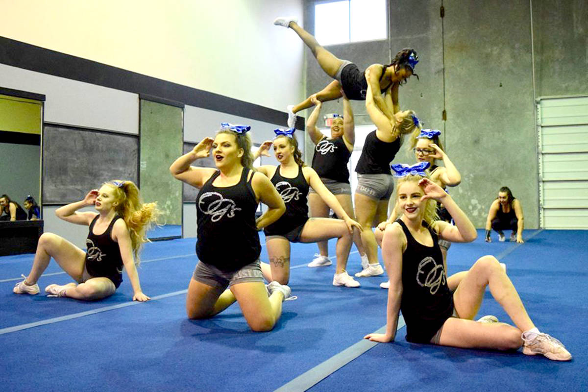 Infinity Cheer Elite members performing a routine in person before the COVID-19 pandemic. (Special to The Star)