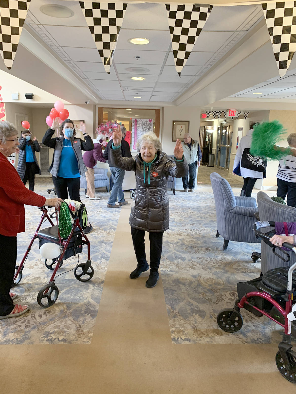 Chartwell Langley Gardens residents and staff held a walkathon to raise money for the Heart and Stroke Foundation. (Chartwell photo/Special to the Langley Advance Times.