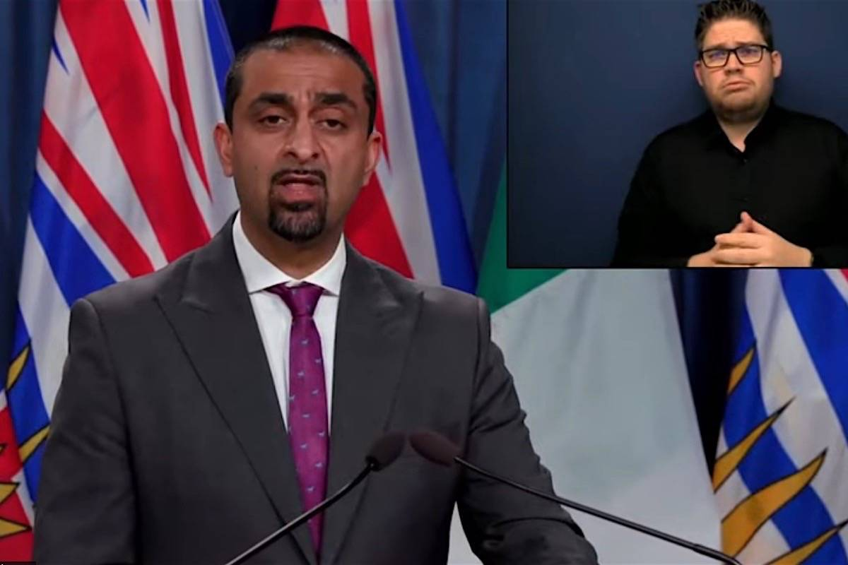 B.C. Jobs Minister Ravi Kahlon announces more grant funds for small businesses to move to online sales, B.C. legislature, March 17, 2021. (B.C. government)