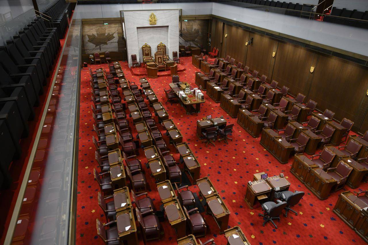 The Senate of Canada building and Senate Chamber are pictured in Ottawa on Monday, Feb. 18, 2019. THE CANADIAN PRESS/Sean Kilpatrick