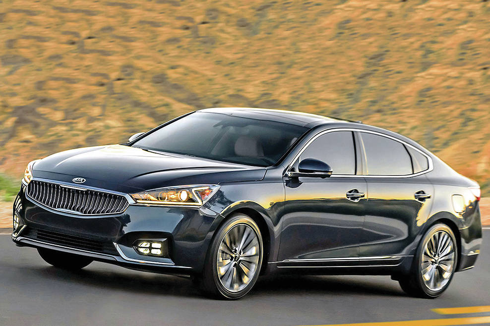 The Cadenza, pictured, is on the way out. In its place, Kia will bring to market a heavily redesigned sedan call the K8. PHOTO: KIA
