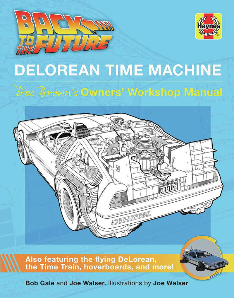The Haynes manual for the Delorean time machine is guaranteed to be an entertaining reading. PHOTO: HAYNES