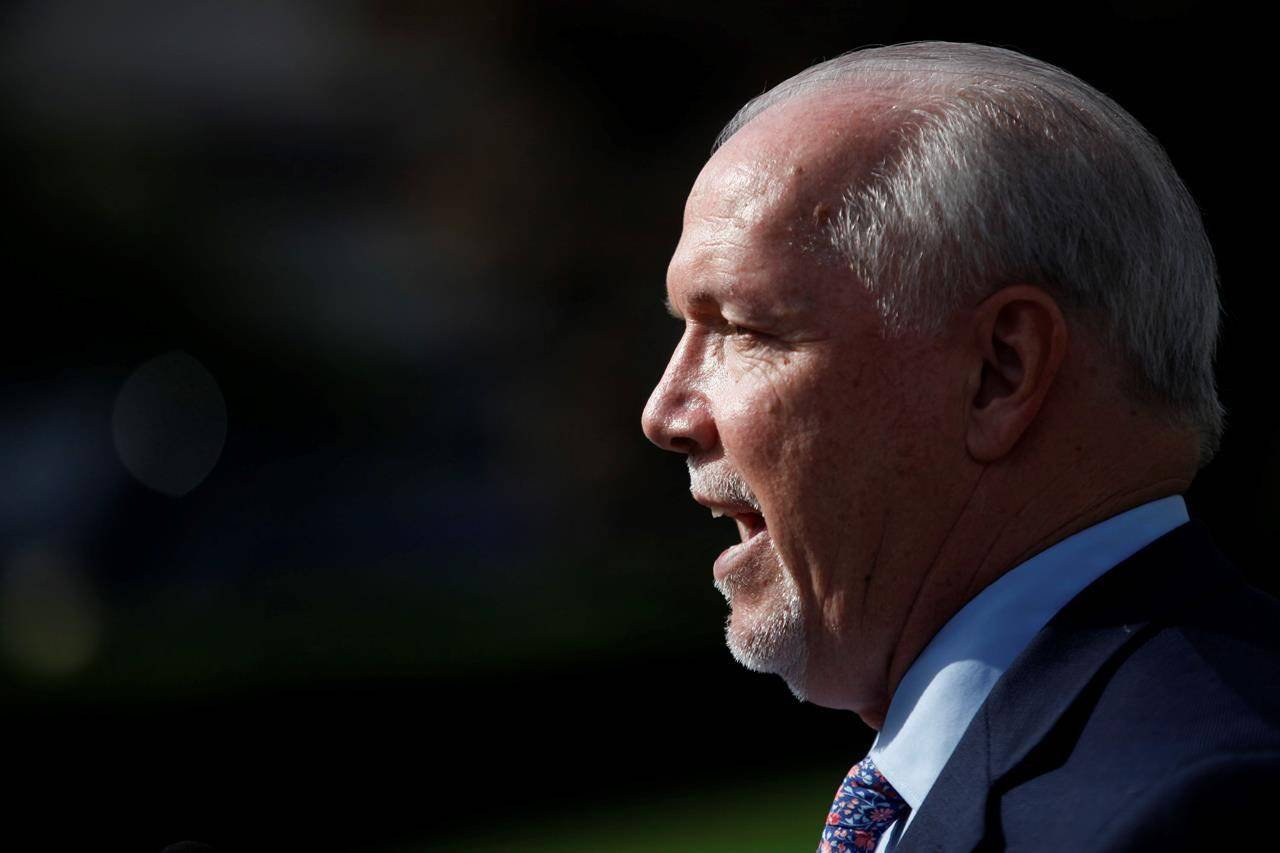 B.C. Premier John Horgan says he plans to introduce new legislation to tackle the rise in anti-Asian hate crimes in the province. THE CANADIAN PRESS/Chad Hipolito