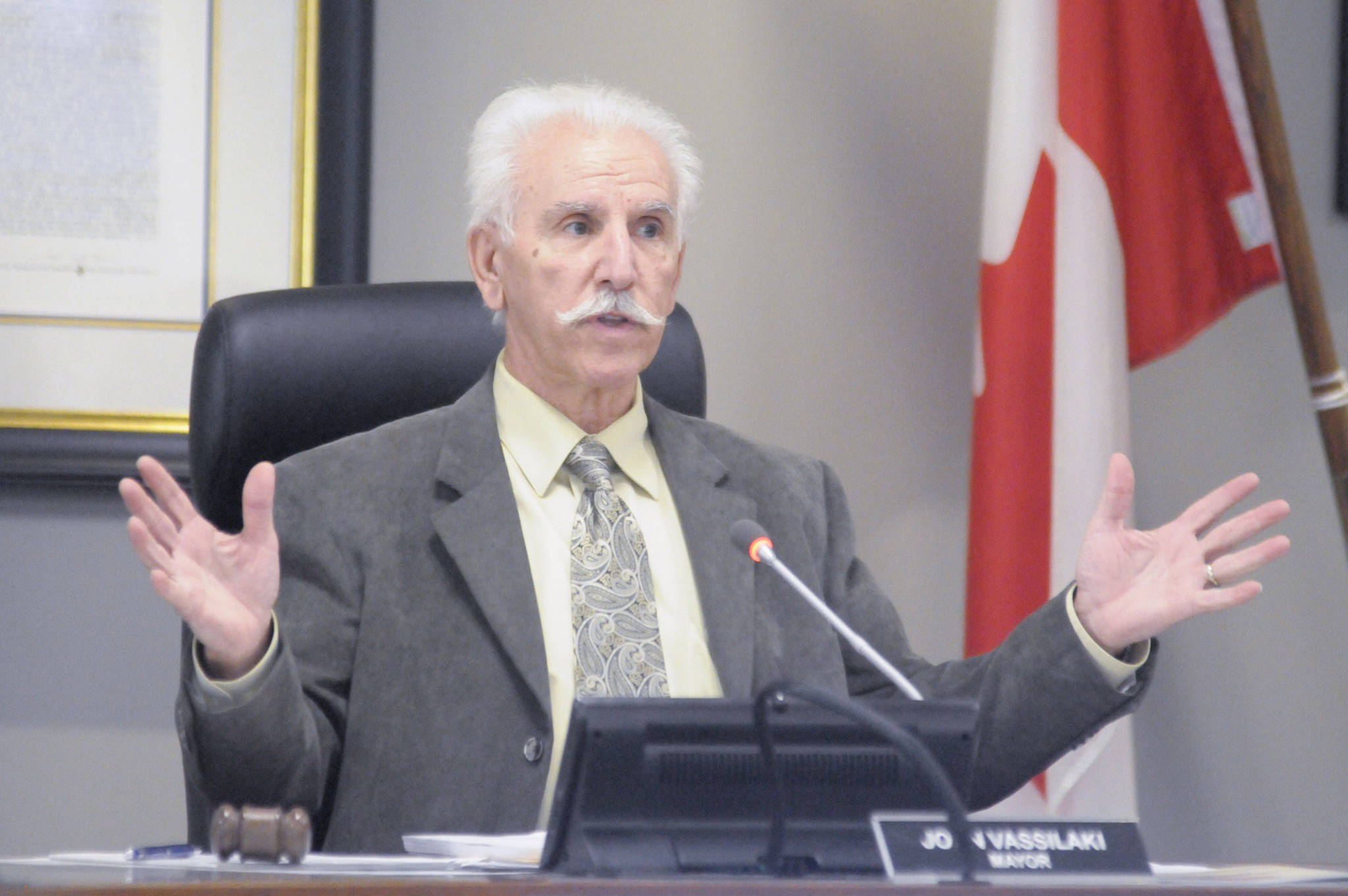 Penticton Mayor John Vassilaki said they are waiting for an official letter from the province on the Victory Church shelter before seeking legal action. (Western News file photo)