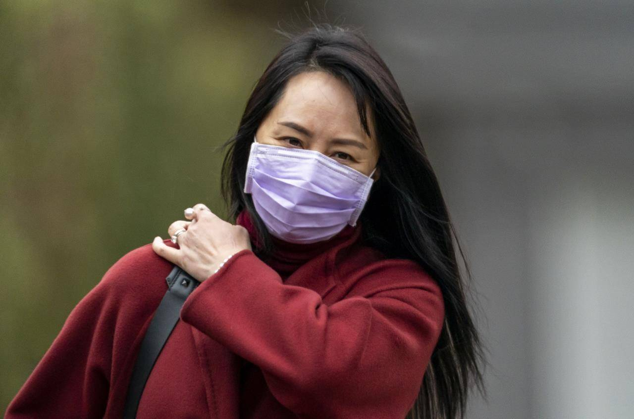 Chief Financial Officer of Huawei Meng Wanzhou leaves her home in Vancouver, Thursday, March 18, 2021. THE CANADIAN PRESS/Jonathan Hayward