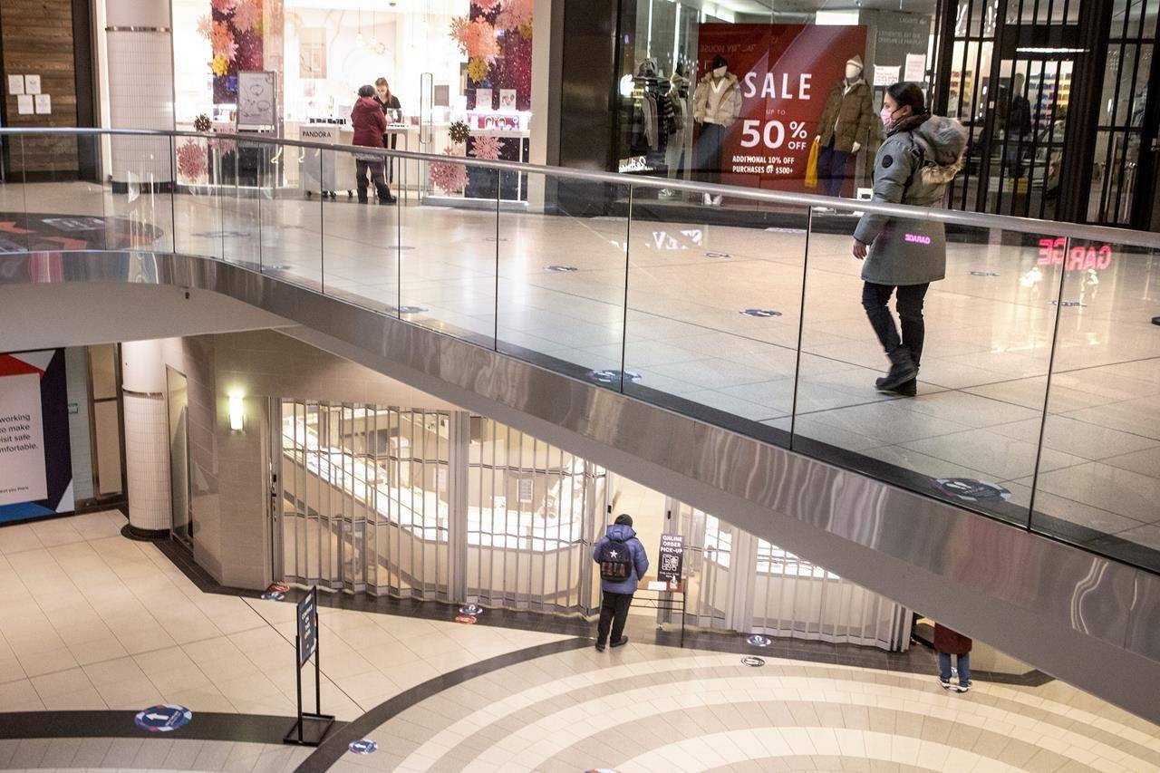 Statistics Canada says retail sales fell for the second consecutive month in January as many non-essential retailers were forced to restrict in-person shopping due to the pandemic. THE CANADIAN PRESS/Chris Young