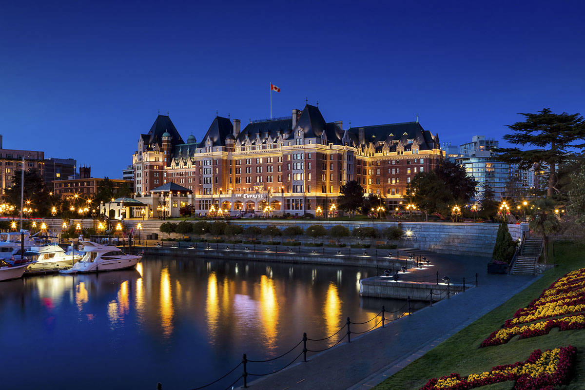 Victoria's Fairmont Empress hotel closed for three months in late 2020, early 2021, to undergo renovations in leveraging slower hotel traffic because of COVID-19 restrictions. A new report from Statistics Canada find many businesses in the accommodation and food services sector are bracing for another tough year. (Courtesy of Fairmont Empress hotel)