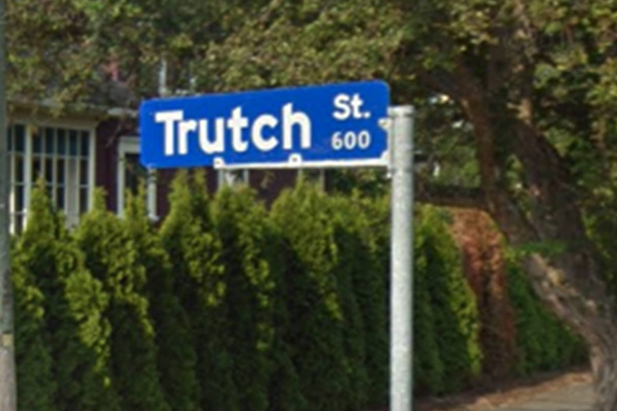 A petition launched by a group of University of Victoria students calls for the renaming of Trutch Street. (Google Maps)