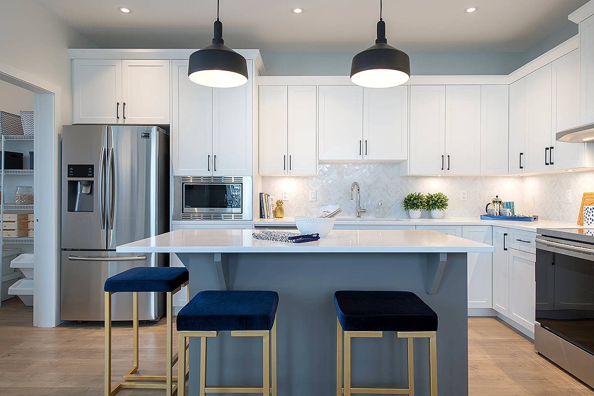 Vesta Properties' Latimer Heights project in north Willoughby is up for a series of awards from the Homebuilders Association Vancouver – 10 in total.  (Special to the Langley Advance Times)